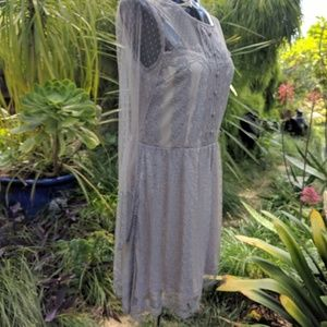 Soieblu Dresses - Soieblu Grey Lace Dress sz M